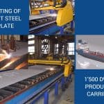 Cutting of the first steel plate of BN 1701