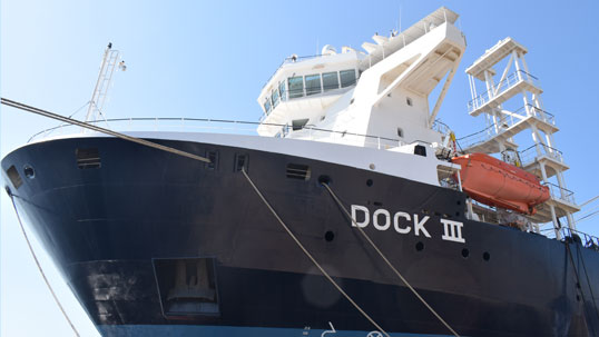 Modification of Dock III is successfully completed!